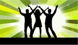 Avendo divertimento - peopl di dancing Immagine Stock Libera da Diritti