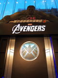 Avengers. Comic and Hollywood celebrity, image taken at The One in Hong Kong Stock Photography