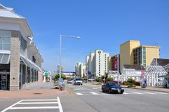 Avenida atlántica, Virginia Beach, Virginia, los E.E.U.U. imágenes de archivo libres de regalías