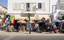 Avenida beira-mar de Nazare imagem de stock royalty free