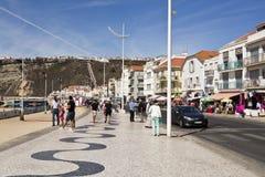 Avenida beira-mar de Nazare foto de stock royalty free