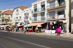 Avenida beira-mar de Nazare imagens de stock royalty free