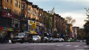 7a avenida Brooklyn no crepúsculo Fotos de Stock Royalty Free