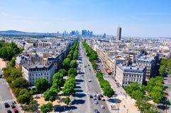 Avenida Charles de Gaulle. París. Imagen de archivo libre de regalías