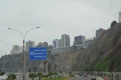 Avenida Costa Verde, Green coast avenue, Miraflores, Lima , Perú Royalty Free Stock Photography