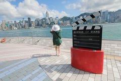 A avenida das estrelas em Hong Kong Fotos de Stock Royalty Free
