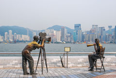 Avenida das estrelas, Hong Kong Imagens de Stock