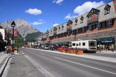 Avenida de Banff Fotografía de archivo libre de regalías