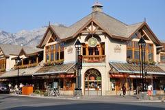 Avenida de Banff Foto de Stock Royalty Free