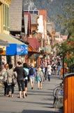 Avenida de Banff fotos de stock royalty free