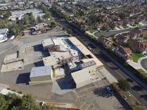 Avenida de Buchanan en Corona California Foto de archivo libre de regalías