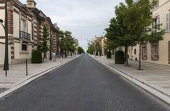 Avenida de Champagne Tourists Imagen de archivo libre de regalías