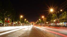 Avenida de Champs-Elysees fotografía de archivo