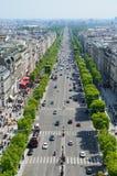 Avenida de Champs-Elysees en París Fotos de archivo libres de regalías