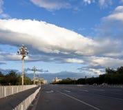 Avenida de Chang'an, Pekín, China Foto de archivo libre de regalías