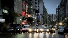 Avenida de Corrientes en Buenos Aires almacen de metraje de vídeo