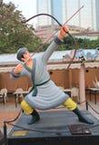 Avenida de estrellas cómicas en Hong Kong Fotos de archivo