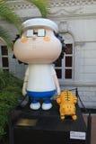 Avenida de estrellas cómicas en Hong Kong Foto de archivo
