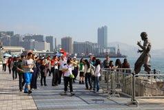 Avenida de estrellas en Hong-Kong Fotografía de archivo libre de regalías