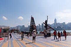 Avenida de estrellas en Hong-Kong Imagen de archivo libre de regalías