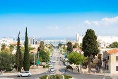 Avenida de Haifa, Ben-Gurion no verão Imagem de Stock Royalty Free