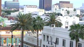 Avenida de Hollywood da arquitetura da cidade do dia em Los Angeles Califórnia sobre CERCA de 2014 filme