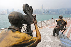Avenida de Hong-Kong de estrellas Fotos de archivo libres de regalías
