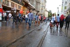 Avenida de Istiklal en Estambul, Turquía fotografía de archivo libre de regalías