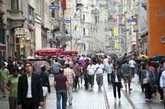 Avenida de Istiklal - Istambul, Turquia Imagem de Stock Royalty Free