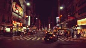 Avenida 9 de Julio en la noche - Buenos Aires Imágenes de archivo libres de regalías