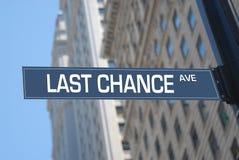 Avenida de la última oportunidad Fotografía de archivo libre de regalías