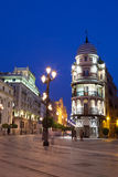 Avenida de la Constitucion of Sevilla at night Royalty Free Stock Photos