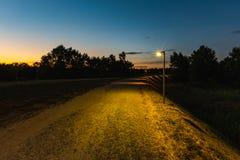 Avenida de la puesta del sol foto de archivo libre de regalías