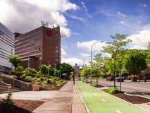 Avenida de la universidad, Syracuse, Nueva York foto de archivo libre de regalías