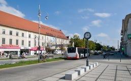 Avenida de la Virgen María en Czestochowa Foto de archivo libre de regalías