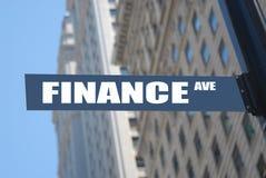 Avenida de las finanzas imagenes de archivo