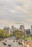 Avenida de Libertador da vista aérea - Buenos Aires Argentina imagem de stock royalty free