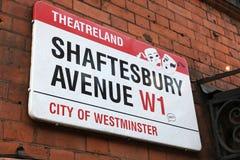 Avenida de Londres Shaftesbury Imagenes de archivo
