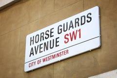 Avenida de los guardias de caballo Imagen de archivo libre de regalías