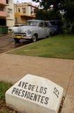 Avenida de los Presidentes, Avana Fotografia Stock Libera da Diritti