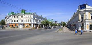 Avenida de Lubinsky a parte histórica da cidade sobre Imagem de Stock Royalty Free