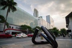 Avenida de Makati na cidade de Makati Fotografia de Stock