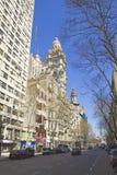 Avenida de mayo en Buenos Aires Foto de archivo