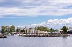 Avenida de Minnesota en el lavabo del puerto de Duluth Fotos de archivo libres de regalías