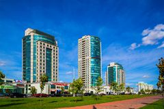 Avenida de Minsk, Bielorrússia Dzerzhinsky fotografia de stock