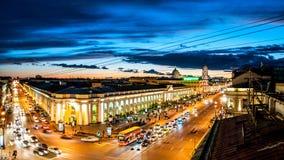 Avenida de Nevsky Imágenes de archivo libres de regalías