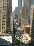 Avenida de New York City 7a que olha sul fotografia de stock
