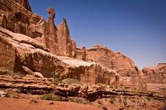 Avenida de parque, arcos parque nacional, Utah Imágenes de archivo libres de regalías