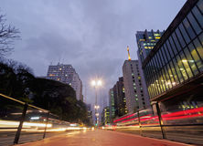 Avenida de Paulista em Sao Paulo, Brasil Fotos de Stock Royalty Free