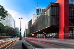 Avenida de Paulista en São Pablo - el Brasil Imagen de archivo libre de regalías